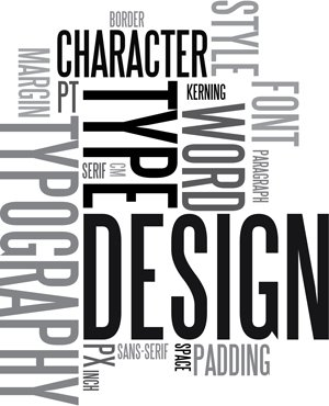type, design, word, character