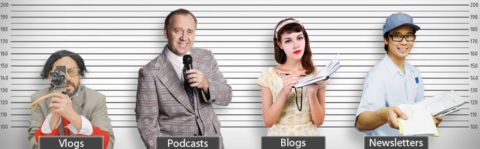 Blogs, Vlogs, Podcasts and Email Marketing Pros and Cons