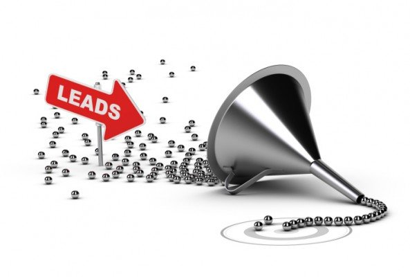leads going into a sales funnel