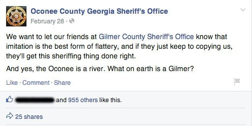 oconee county sheriff's office facebook pride