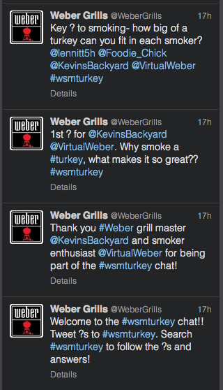 Weber tweetdeck