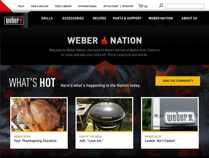 Weber Nation website
