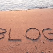 """blog"" written in the sand"
