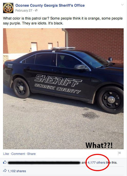 Occonee Cop Car Joke