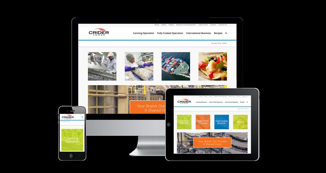 Crider Foods - Website Design & Development