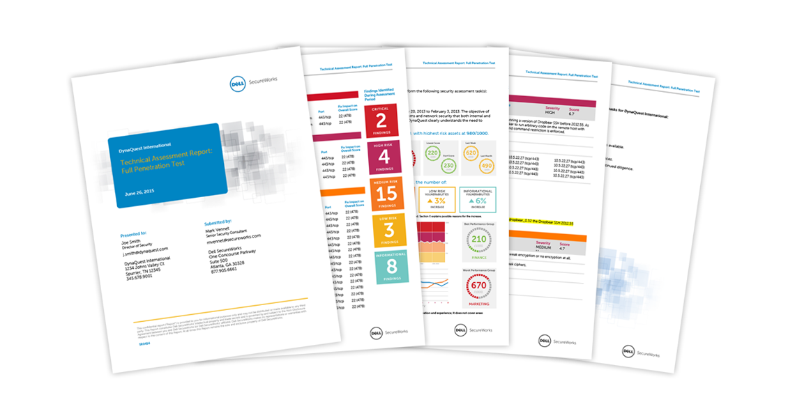 Dell Secureworks Security Consultation report