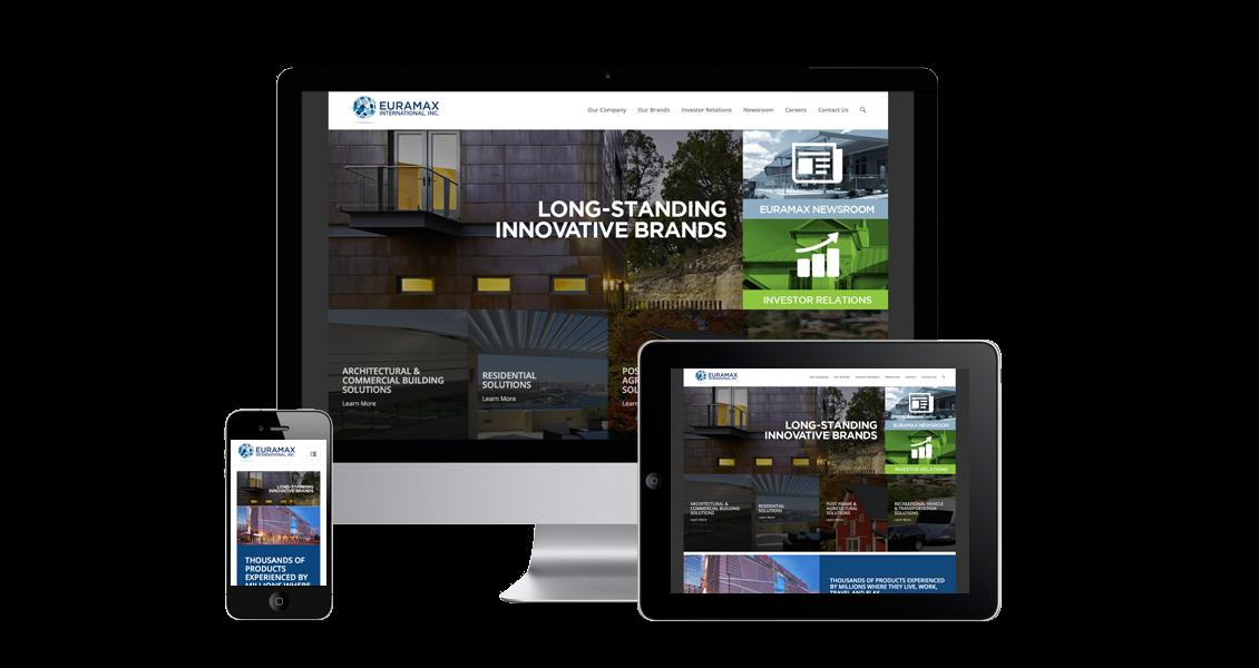 Euramax International - Website Design & Development