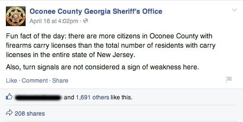 oconee firearms facebook post