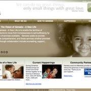 Genesis Shelter homepage