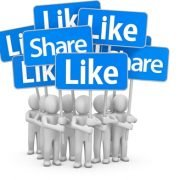 Facebook like or share button?