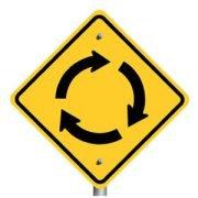 loop road sign