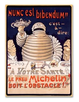 Vintage Michelin Man advertising poster, circa 1894