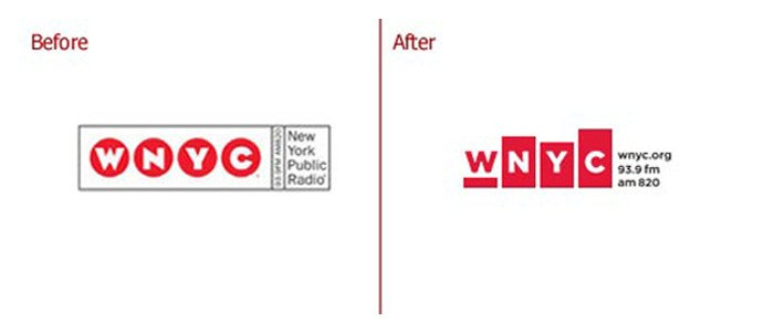 WNYC rebranding comparison
