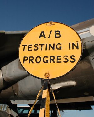 A/B Testing In Progress