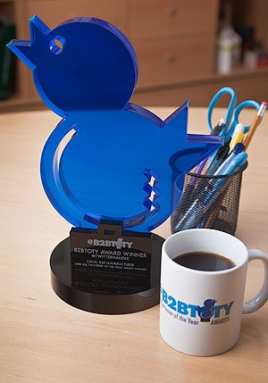 The B2B Twitter of the Year Award, it's about creating a community, and the value a B2B entity brings to it.