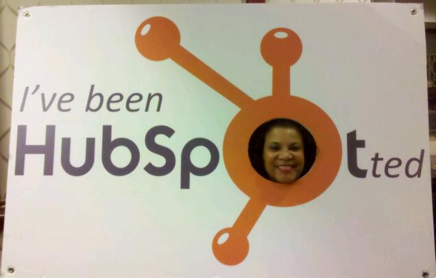 Martine Hunter in HubSpot logo