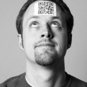 QR code on a b2b marketer's head