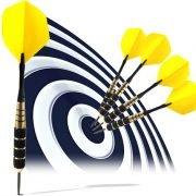 darts hitting the b2b bullseye