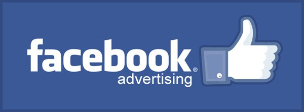 Facebook advertising logo with like symbol