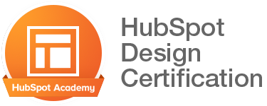 HubSpot Academy HubSpot Design Certification badge