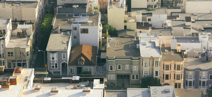 A local city neighborhood. A place for local SEO.