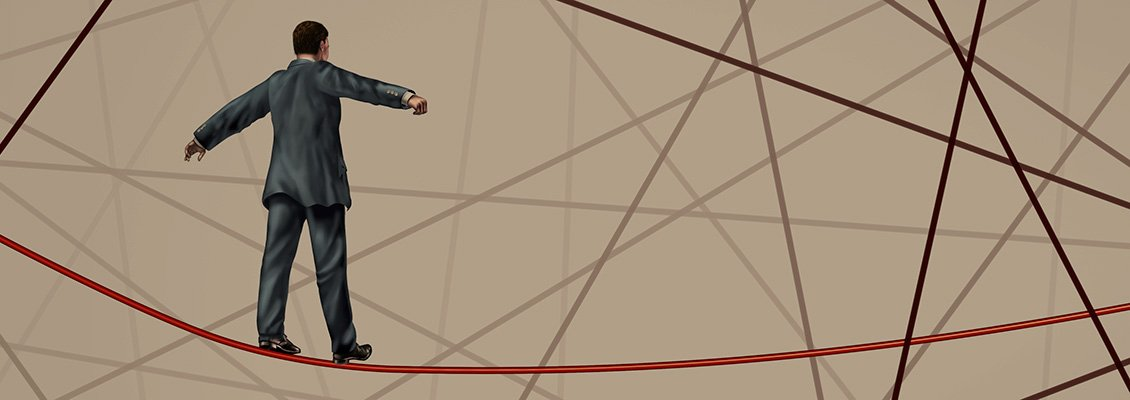 tightrope walker background