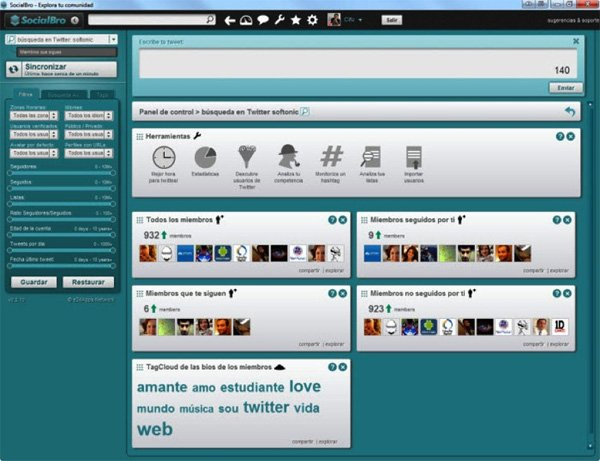 socialbro screenshot