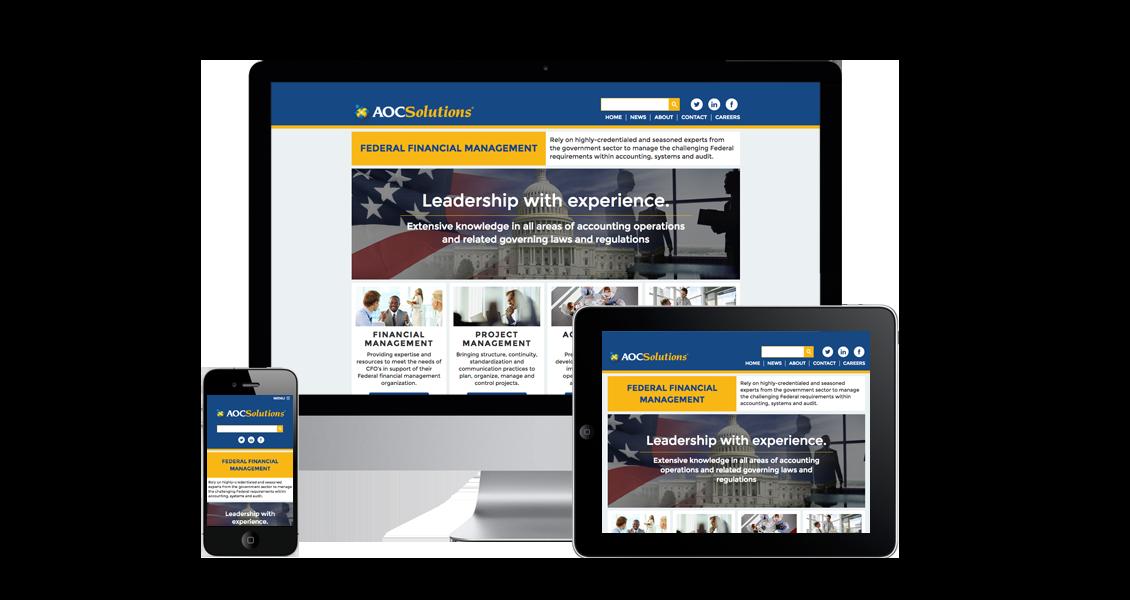 AOC Solutions Federal Financial Management - Website Design & Development
