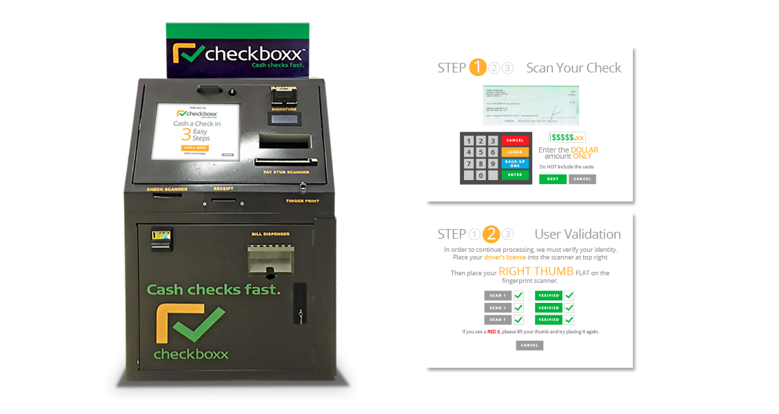 CheckBoxx Cash Machine UI design