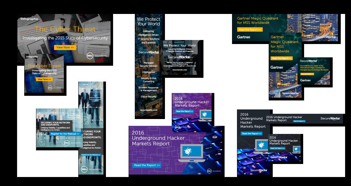 Dell SecureWorks banner ads