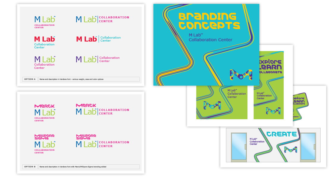 M Lab Collaboration Center branding