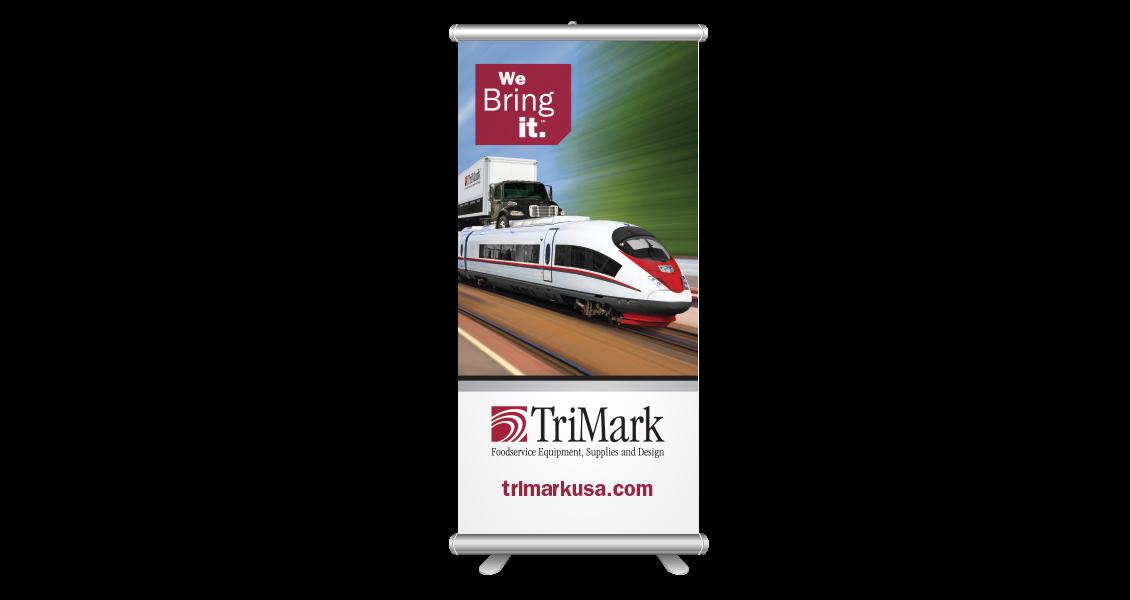 TriMark retractable banner